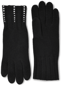 Cashmere Embellished Gloves image two