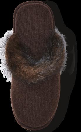 Cashmere Slippers W/ Mink Trim