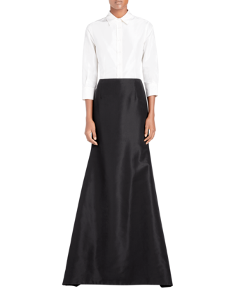 Icon Silk Falle Long Trumpet Skirt