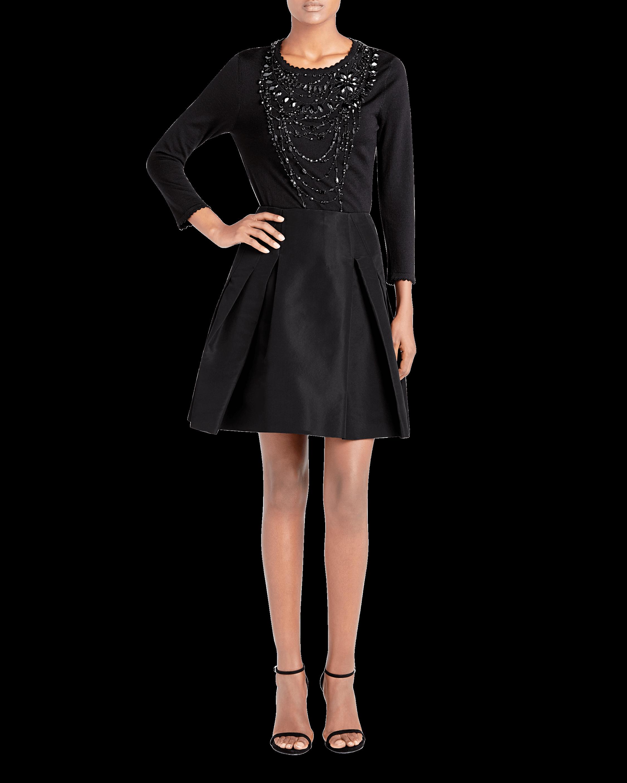 Icon Silk Falle Pleated Skirt