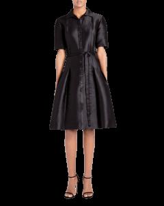 Icon Mikado Cotton & Silk Shirtdress image two