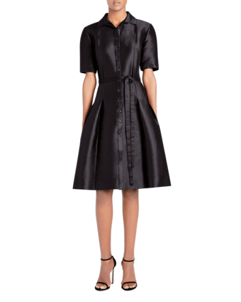 Icon Mikado Cotton & Silk Shirtdress