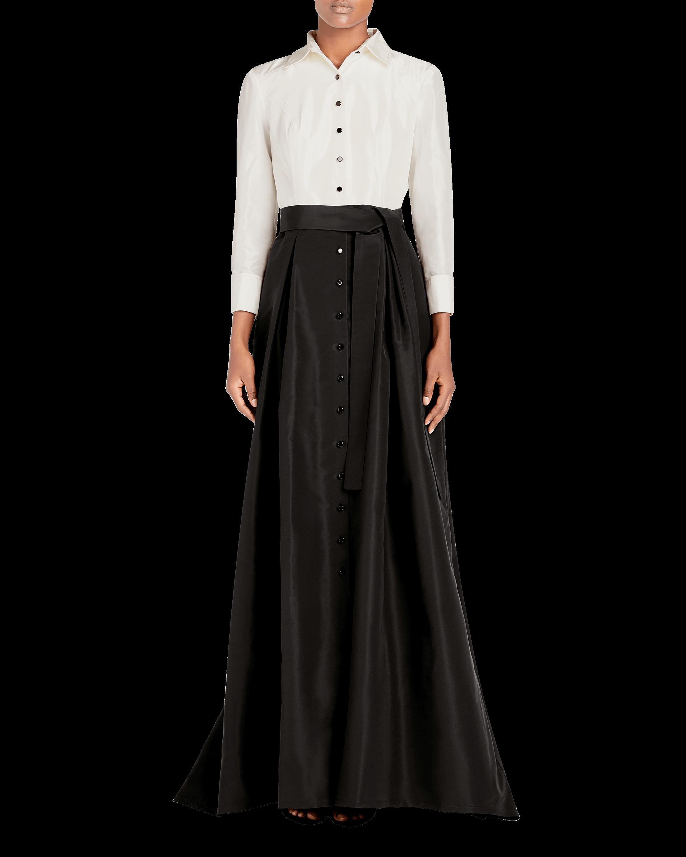 Icon Silk Taffeta Trench Gown