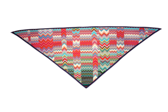 Zig Zag Triangular Scarf image two