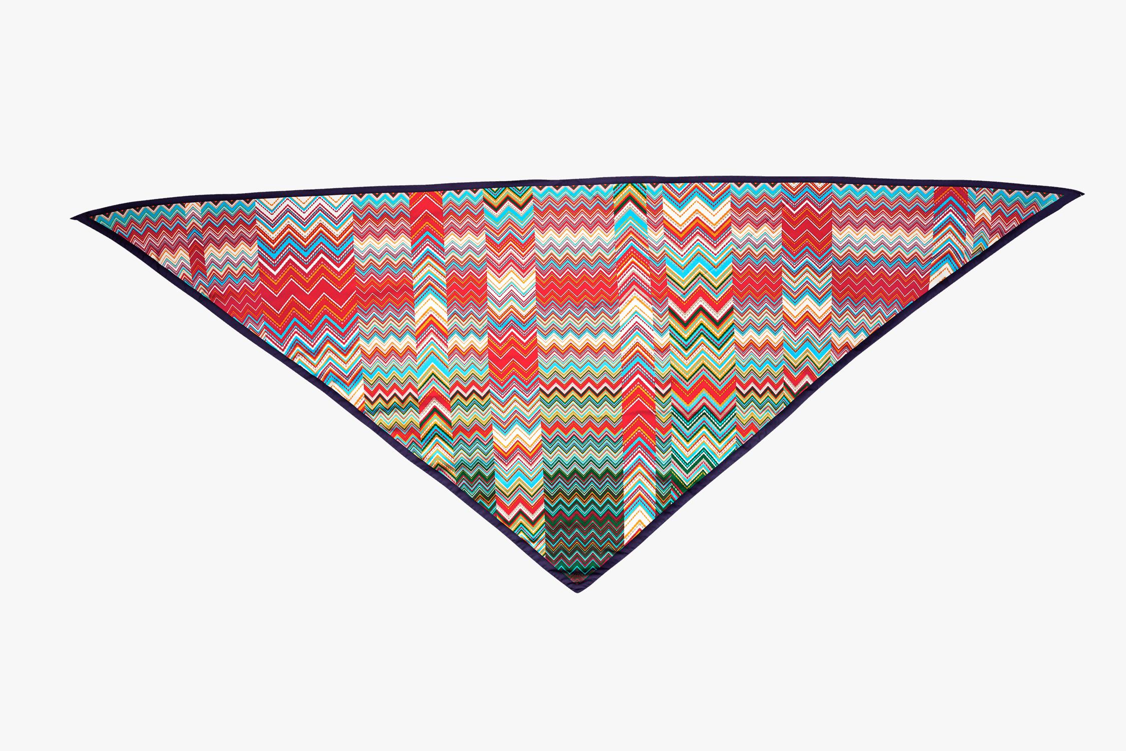 Missoni Zig Zag Triangular Scarf 2