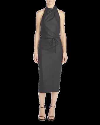 Belted Halter Dress