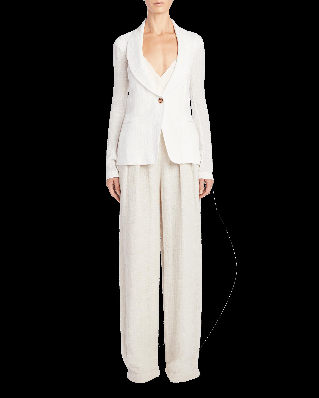 Linen Shawl Collar Jacket