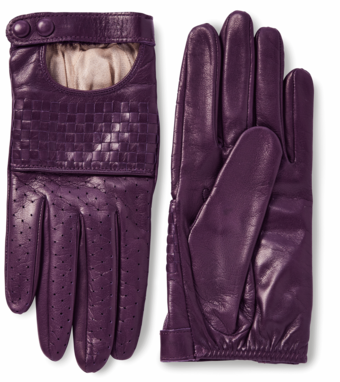 Nappa Woven Leather Driving Gloves