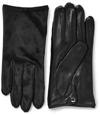 Nappa Leather And Haircalf Gloves