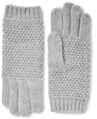 Cashmere Popcorn Knit Gloves