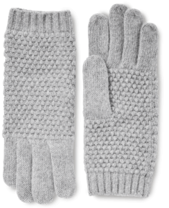 Cashmere Popcorn Knit Gloves