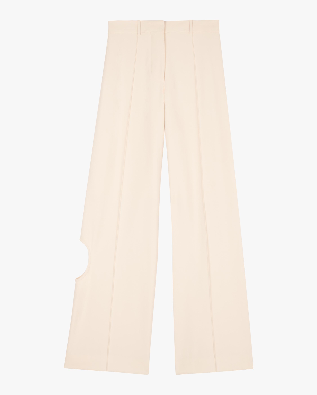 Victoria Beckham Cutout Wide-Leg Trousers 0