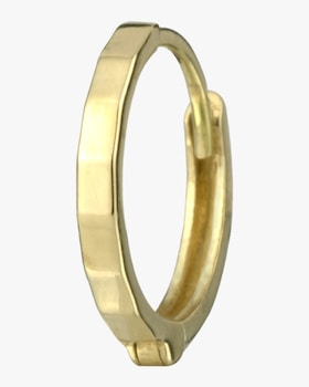 Single Gold Faceted Hinge Hoop
