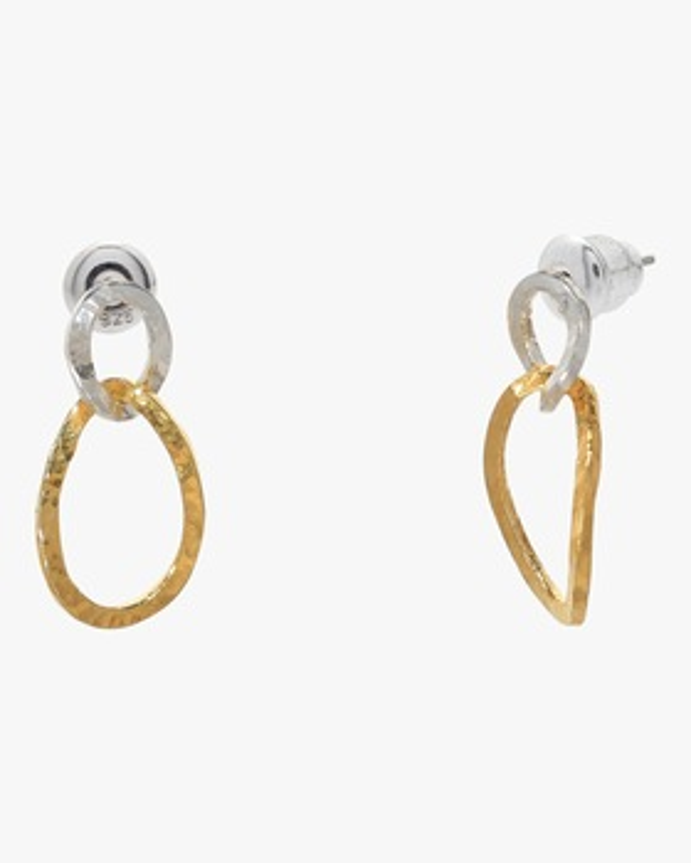 Twist Drop Hoopla Earrings