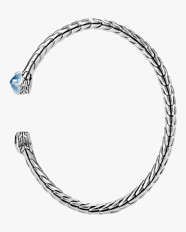 Classic Chain Hammered Cuff Bracelet