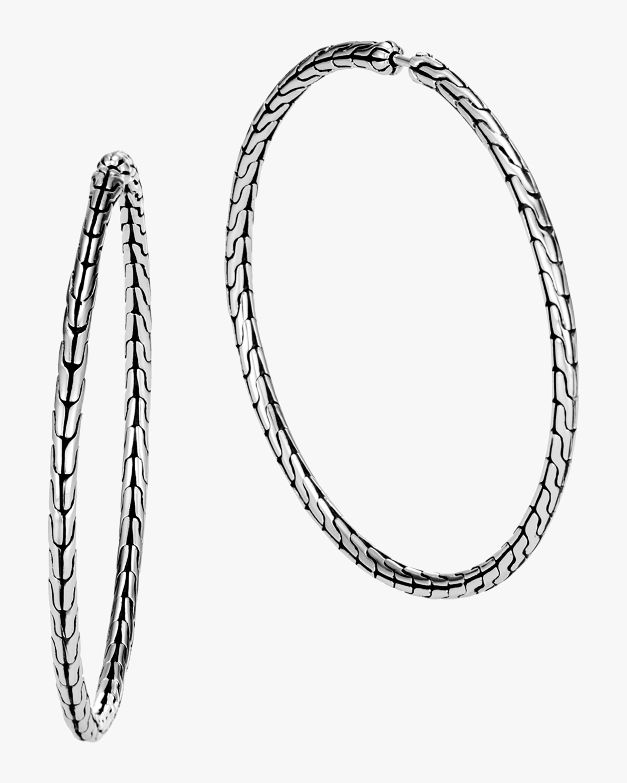 John Hardy Classic Chain Large Hoop Earrings 0