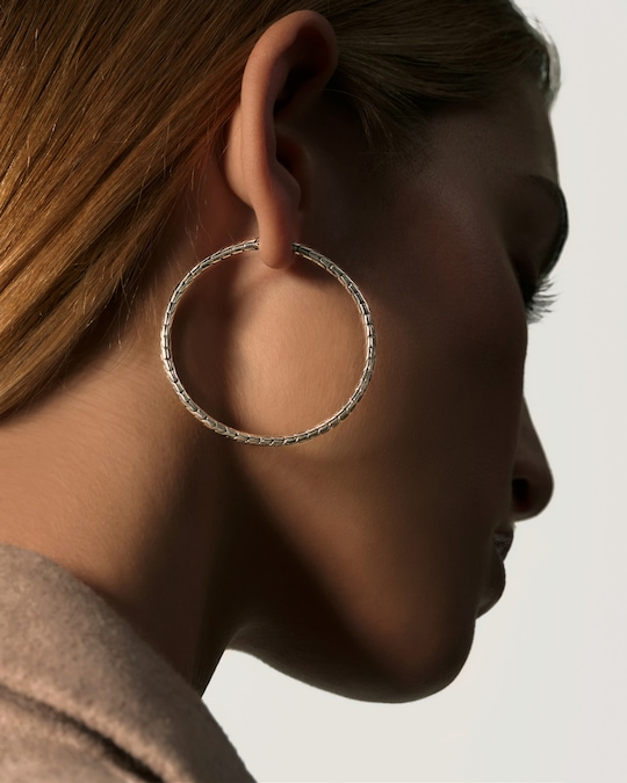 John Hardy Classic Chain Large Hoop Earrings 1