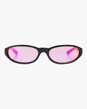Shinny Oval Sunglasses with Violet Flash Lens