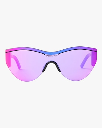 Ski Cat Eye Frames with Purple Mirrored Lens