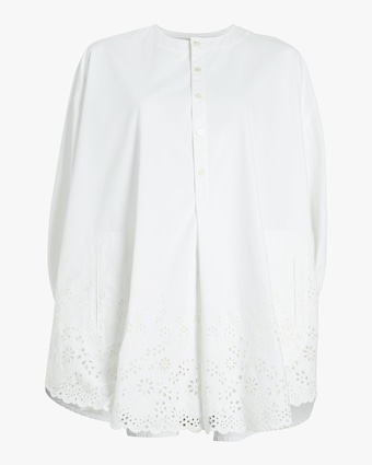 Broderie Anglaise Poncho Shirt