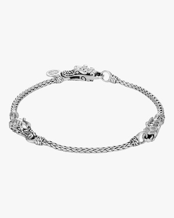 Legends Naga Silver Triple Station Bracelet