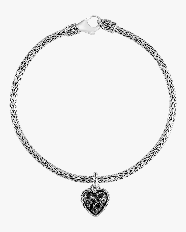 John Hardy Classic Silver Heart Charm Bracelet 0