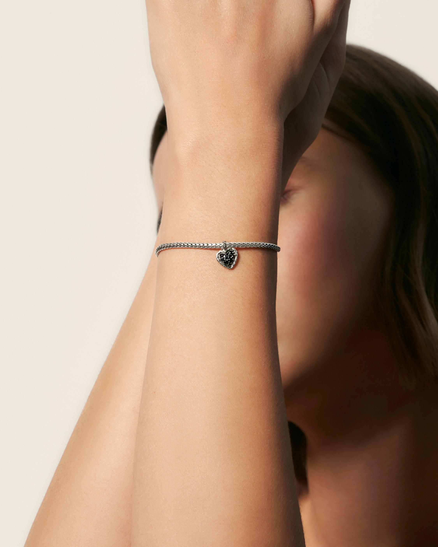 Classic Silver Heart Charm Bracelet