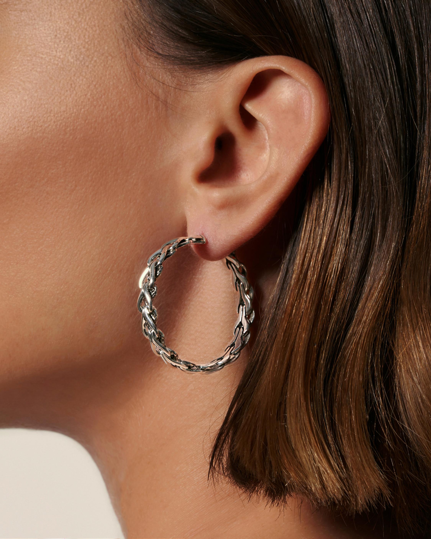 John Hardy Asli Classic Medium Hoop Earrings 1