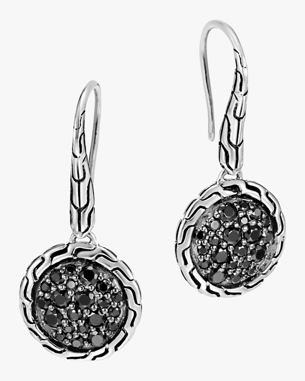 John Hardy Classic Chain Silver Round Drop Earrings 0