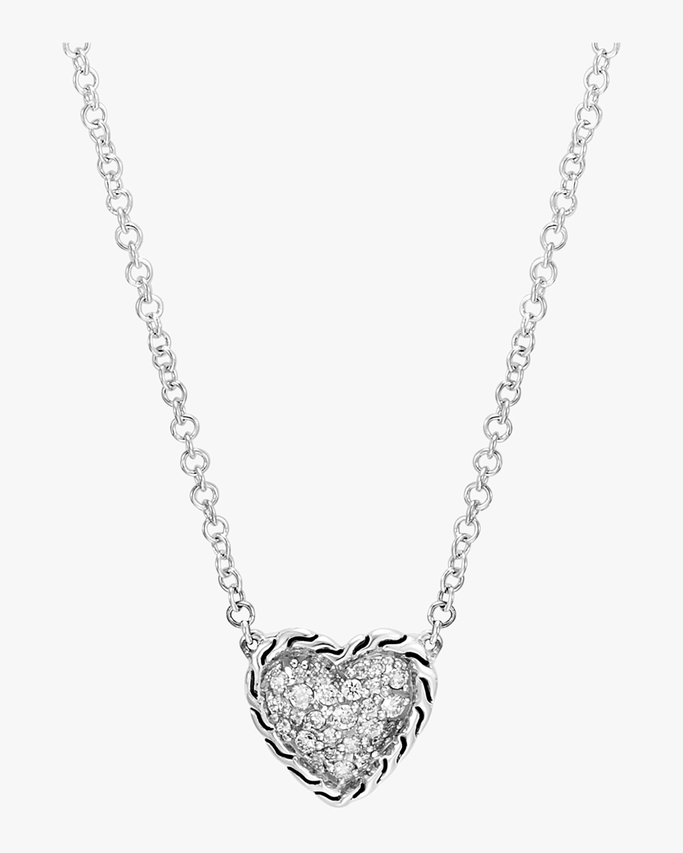 Classic Diamond Pave Heart Pendant Necklace