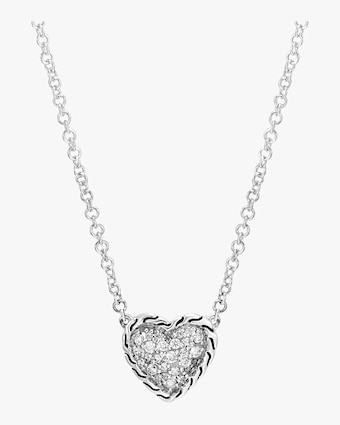 Classic Diamond Pave Heart Pendant Necklace