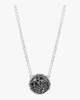 Classic Chain Silver Round Pendant Necklace