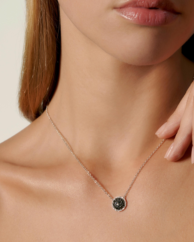 Classic Chain Silver Round Pendant Necklace
