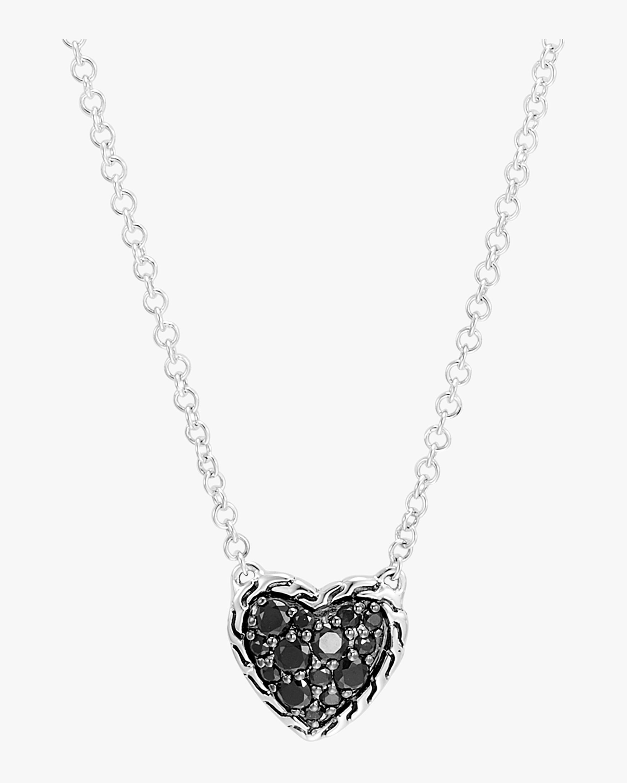 Classic Chain Silver Heart Pendant Necklace