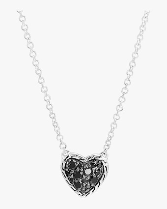 Classic Chain Silver Heart Pendant Necklace