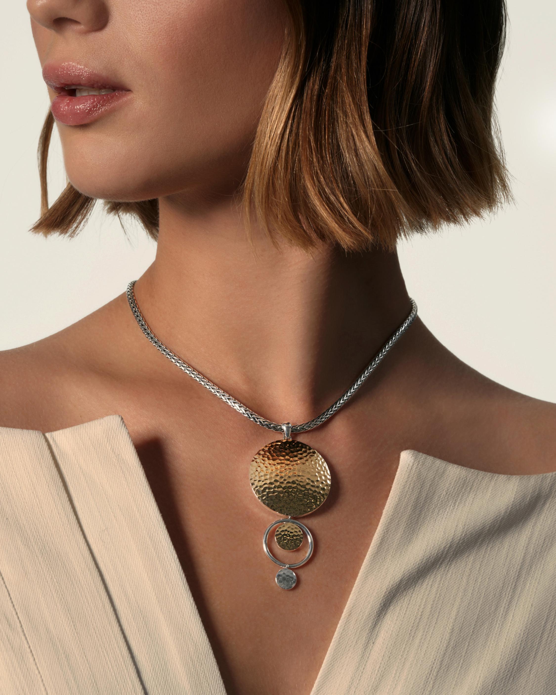 John Hardy Dot Hammered Drop Pendant Necklace 1