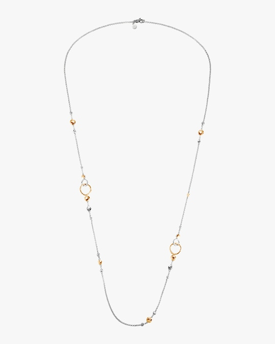 John Hardy Dot Hammered Mini Rolo Chain Sautoir Necklace 0
