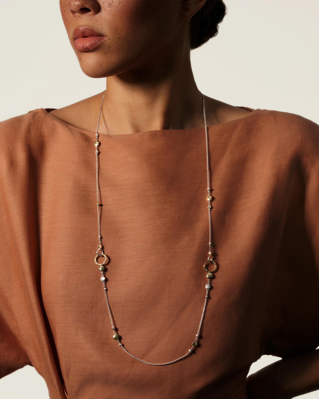 John Hardy Dot Hammered Mini Rolo Chain Sautoir Necklace 2