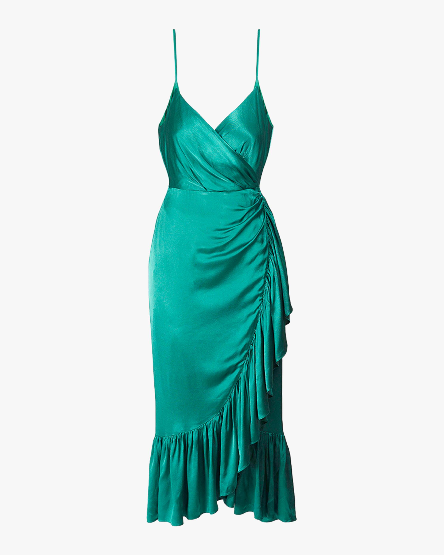 Luster Crepe Giulia Wrap Dress