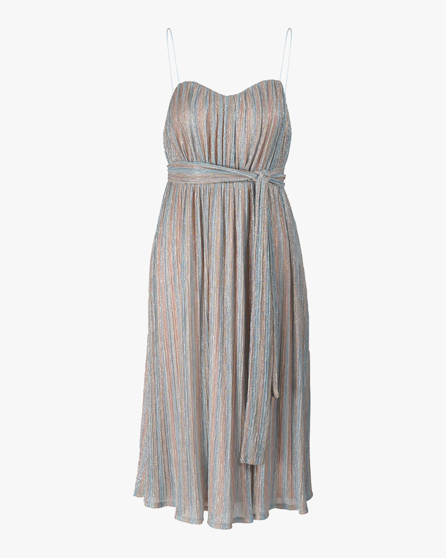 Alcantara Pleated Striped Dress