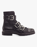 McQ Alexander McQueen Fate Buckle Ankle Boot 0