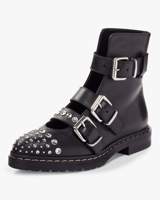 McQ Alexander McQueen Fate Buckle Ankle Boot 1