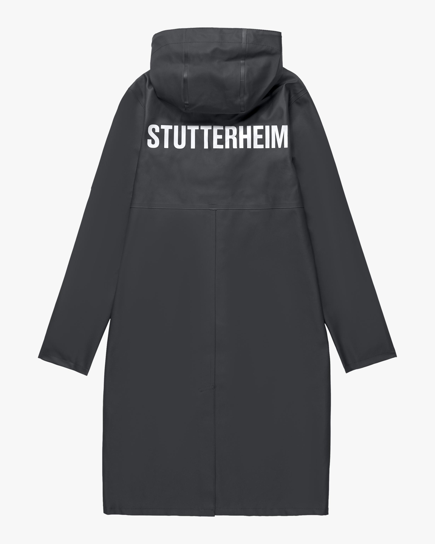 Stutterheim Stockholm Long Logo Raincoat 1