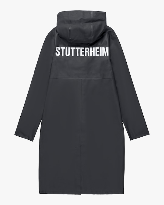 Stutterheim Stockholm Long Logo Raincoat 0