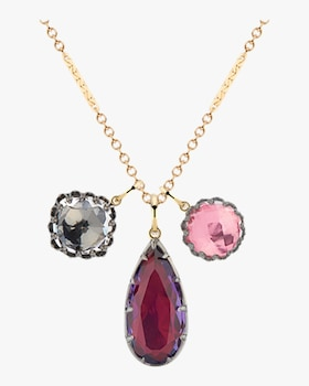 Lady Emily Triple Cluster Charm Necklace