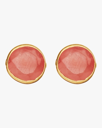 Pippa Small Gold Classic Stud Earrings 1