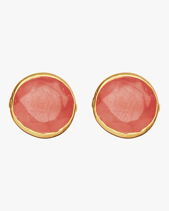 Pippa Small Gold Classic Stud Earrings 0