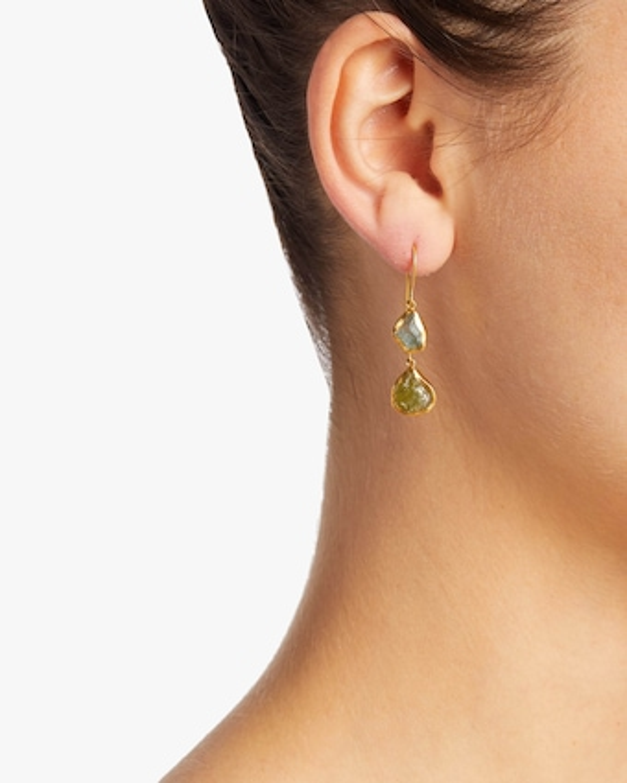 Amorphous Double Drop Earrings