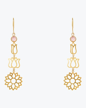 Pippa Small Burmese Long Lotus Earrings 1