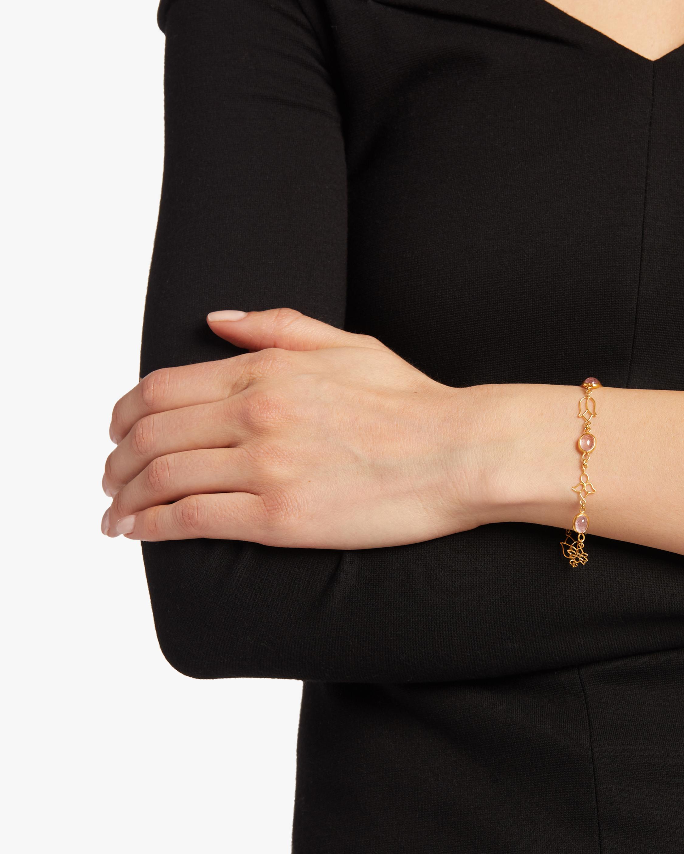 Burmese Lotus Open Wire Chain Bracelet